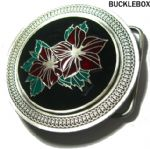 CELTIC FLOWERS Belt Buckle + display stand
